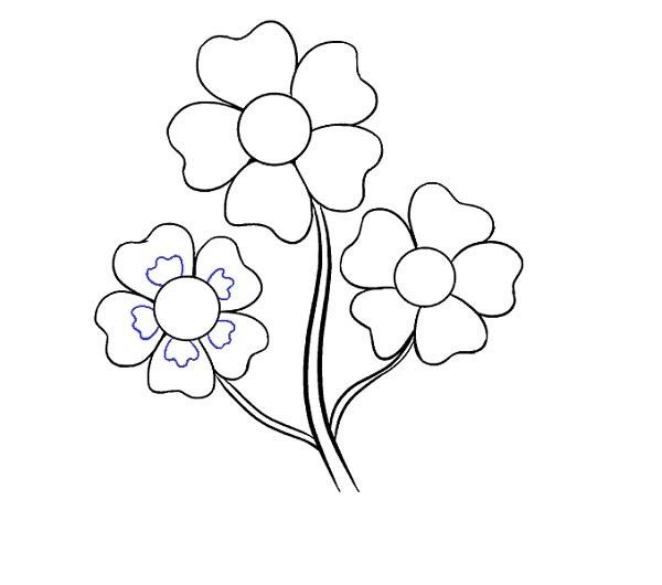 رسم گل کارتونی با عکس