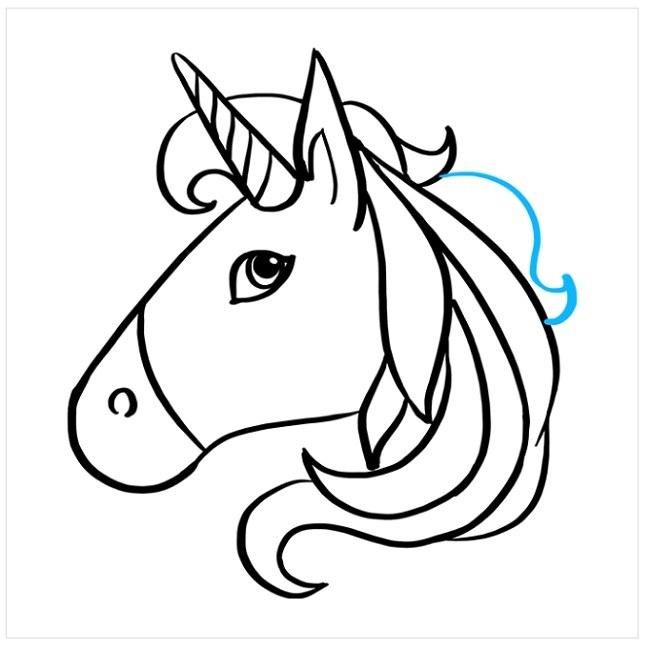 نقاشی اسب تک شاخ کودکانه (9)