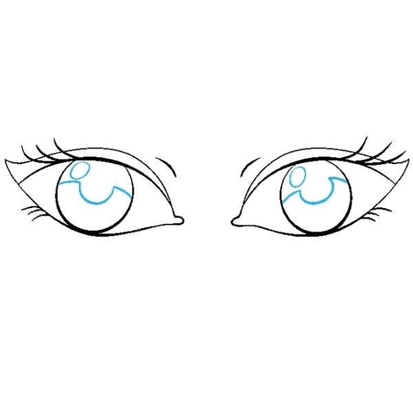 مراحل نقاشی چشم برای کودکان مرحله نهم