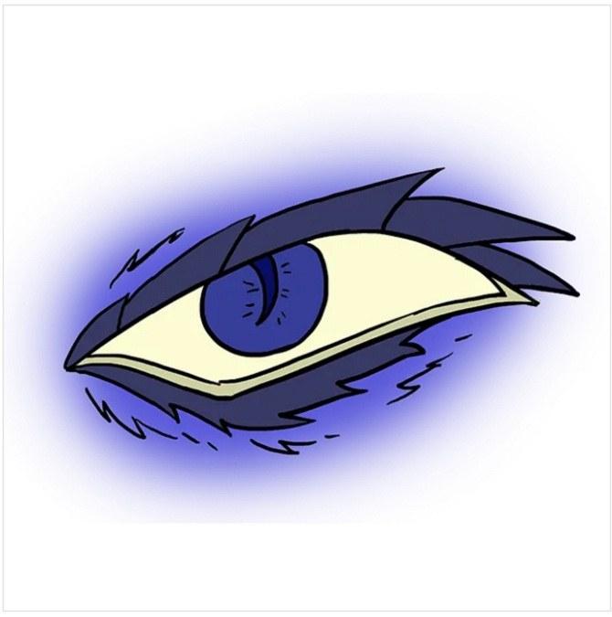 رنگ آمیزی نقاشی چشم اژدها
