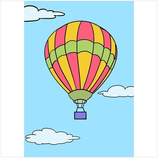 رنگ آمیزی نقاشی بالون هوایی