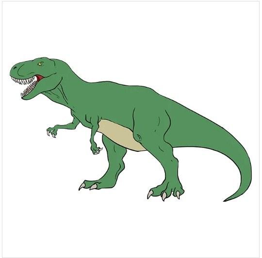 رنگ آمیزی نقاشی دایناسور