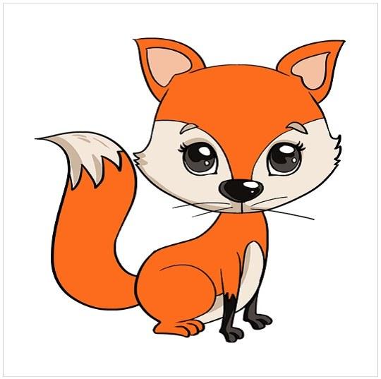 رنگ آمیزی نقاشی توله روباه