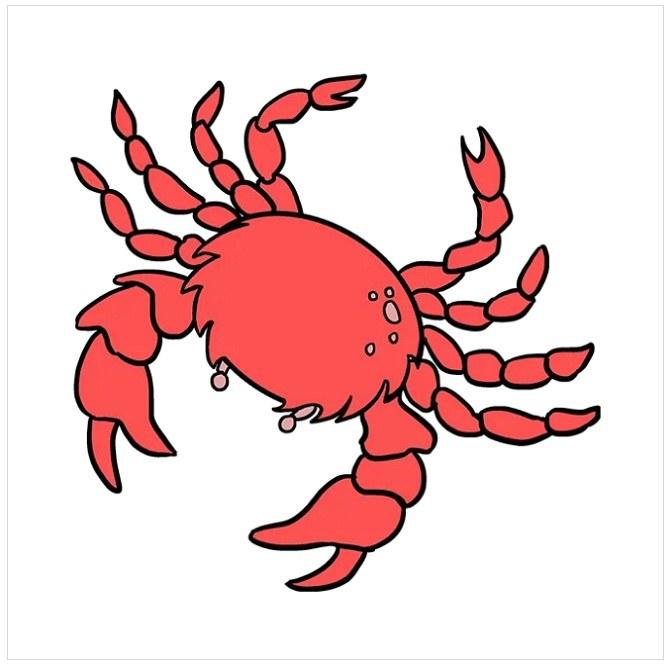 رنگ آمیزی نقاشی خرچنگ