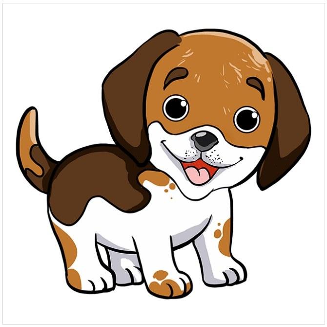رنگ آمیزی نقاشی توله سگ پاپی