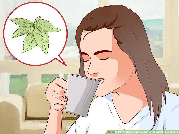 نوشیدن چای نعنایی