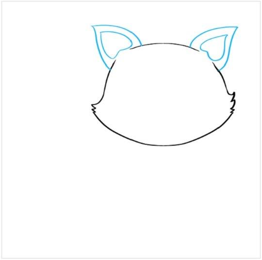 آموزش نقاشی توله روباه مرحله دوم