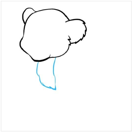 آموزش نقاشی توله شیر مرحله دوم