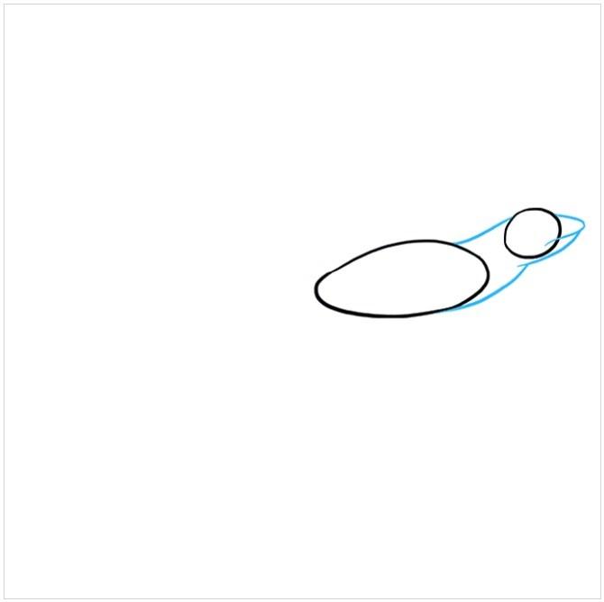 آموزش نقاشی مارمولک مرحله دوم