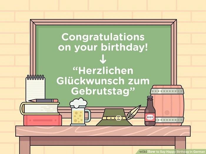 تولدت مبارک به زبان آلمانی