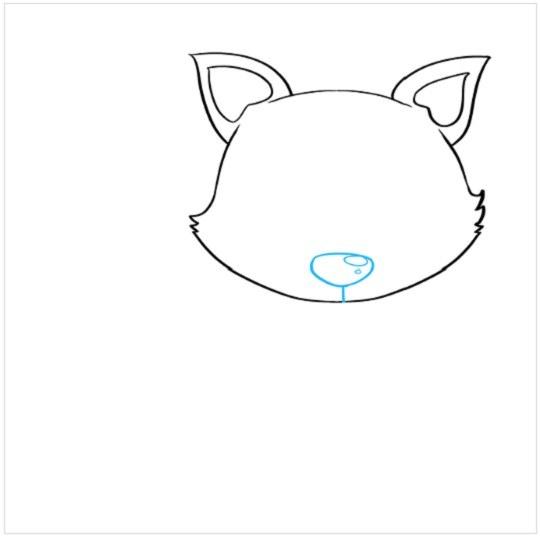 آموزش نقاشی توله روباه مرحله سوم