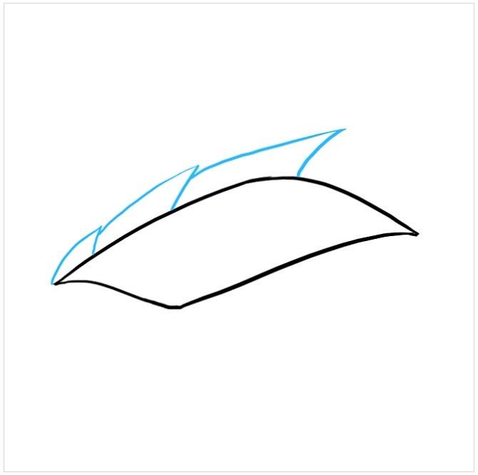 آموزش نقاشی چشم اژدها مرحله سوم
