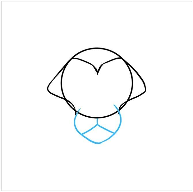 آموزش نقاشی سر شیر مرحله سوم
