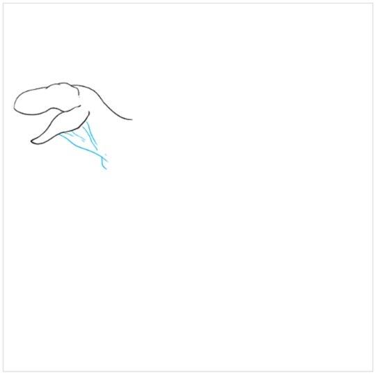 آموزش نقاشی دایناسور مرحله سوم