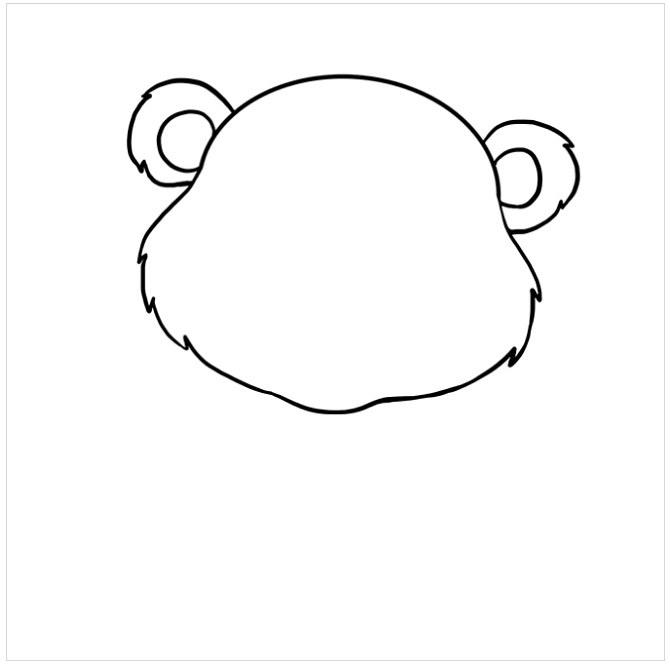 نقاشی بچه خرس برای بچه ها مرحله چهارم