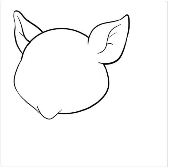 آموزش نقاشی بچه خوک مرحله چهارم