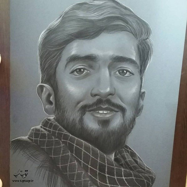 عکس نقاشی شهید حججی 98 جدید