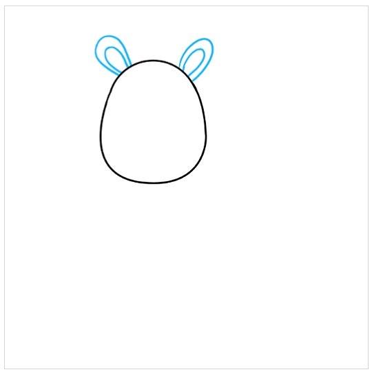 نقاشی کودکانه بچه زرافه مرحله چهارم