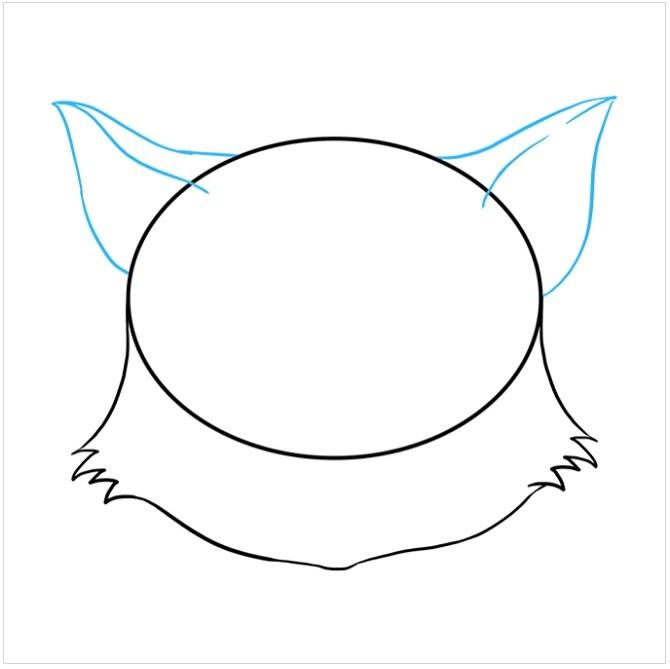 آموزش نقاشی صورت گربه مرحله چهارم