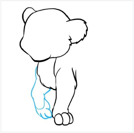 نقاشی کودکانه توله شیر مرحله چهارم