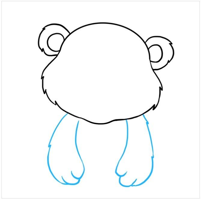 نقاشی ساده بچه خرس مرحله پنجم
