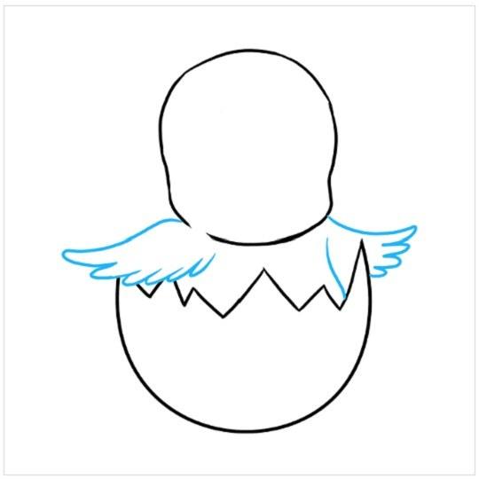 نقاشی جوجه عید پاک مرحله پنجم