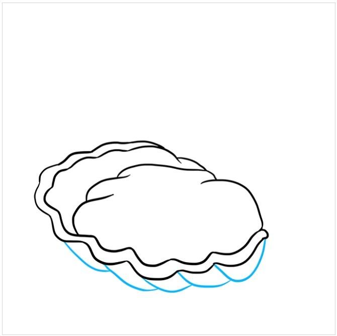 نقاشی صدف داخل مروارید برای کودکان مرحله پنجم
