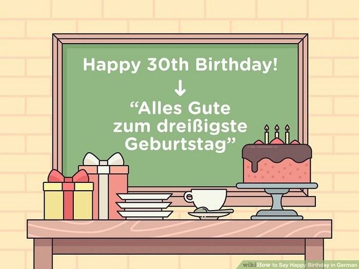 عبارت های طولانی باری تبریک تولد گفتن به زبان آلمانی