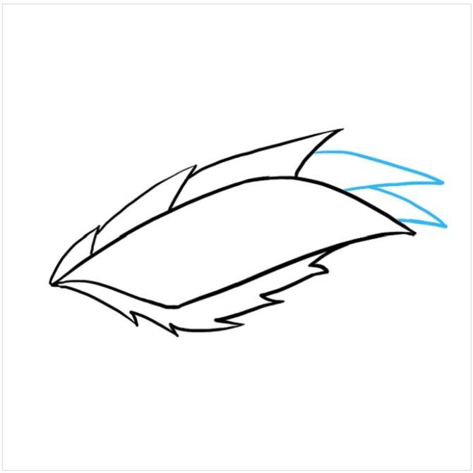 نقاشی چشم اژدها برای کودکان مرحله پنجم