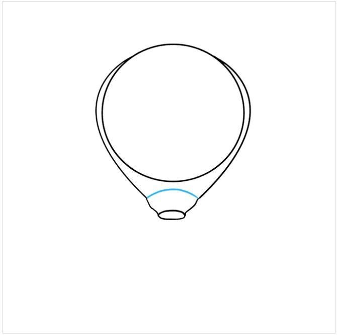 آموزش نقاشی آسان بالون هوایی مرحله پنجم