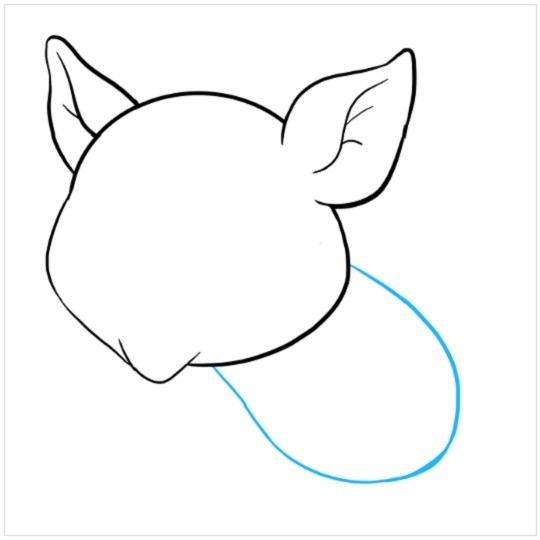 نقاشی کودکانه بچه خوک مرحله پنجم