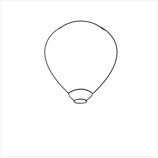 آموزش رسم بالون هوایی مرحله ششم