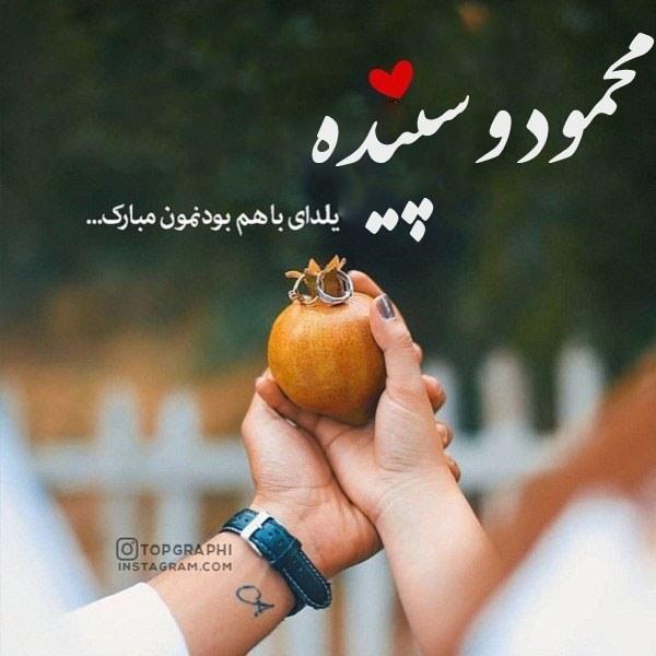 تبریک شب یلدا محمود و سپیده