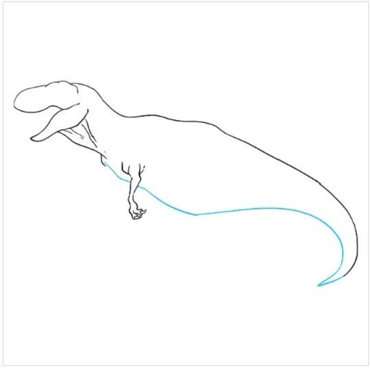 نقاشی آسان دایناسور مرحله ششم