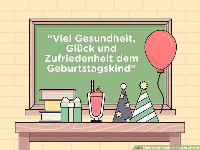 استفاده از عبارت Viel Gesundheit, Glück und Zufriedenheit dem Geburtstagskind