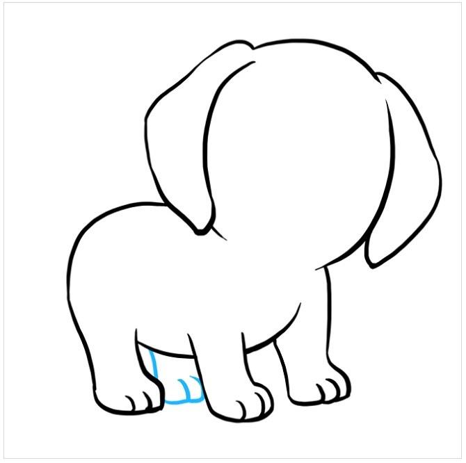 نقاشی توله سگ پاپی مرحله ششم