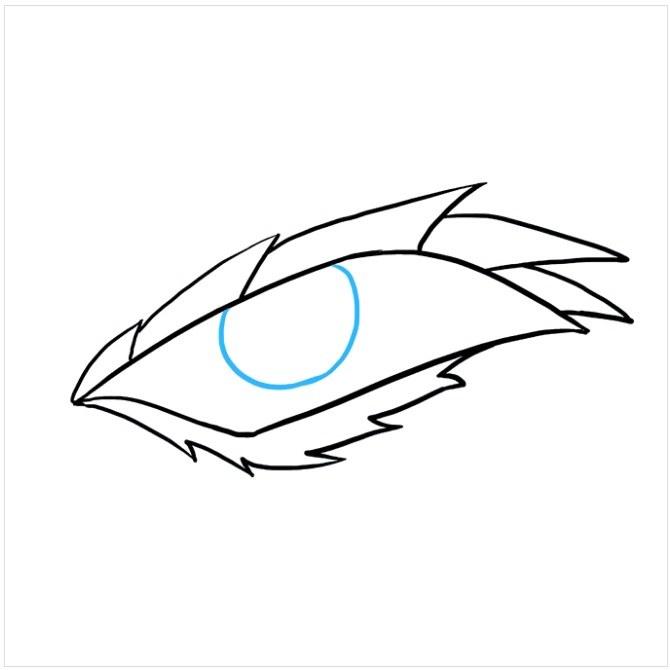 نقاشی آسان چشم اژدها مرحله ششم