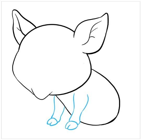 نقاشی بچه خوک برای کودکان مرحله ششم