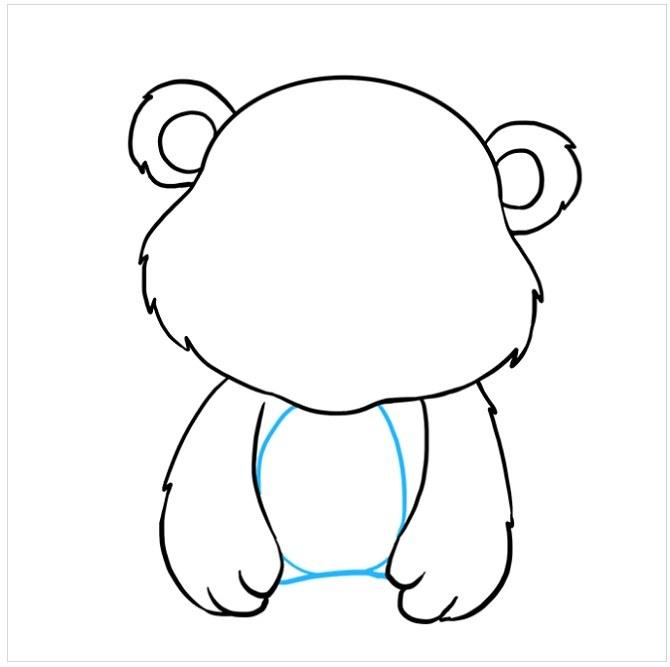 نقاشی بچه خرس زیبا مرحله ششم