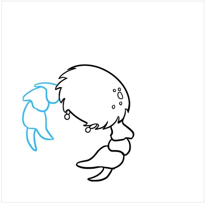 نقاشی قدم به قدم خرچنگ مرحله ششم