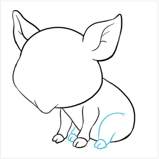 نقاشی آسان بچه خوک مرحله هفتم