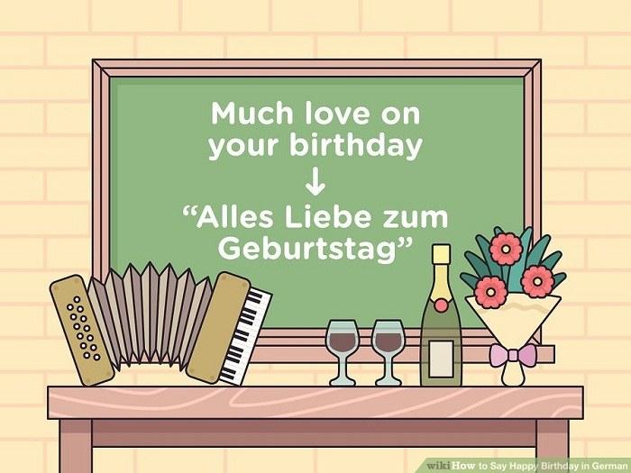 تبریک تولد آلمانی به شخصی که دوستش دارید