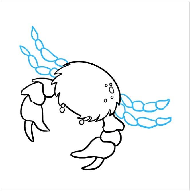 آموزش نقاشی خرچنگ برای کودکان مرحله هفتم