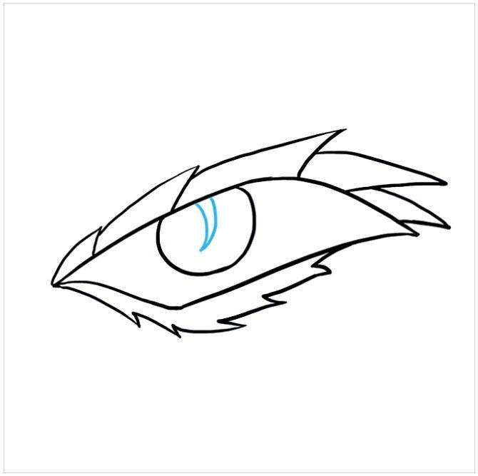 نقاشی چشم اژدها مرحله هفتم