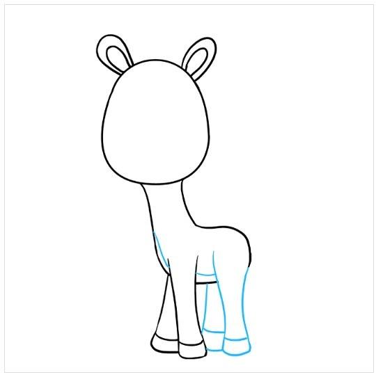 آموزش نقاشی بچه زرافه مرحله هفتم