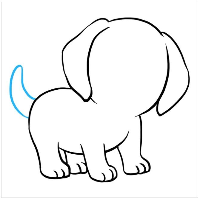 نقاشی توله سگ پاپی مرحله هفتم