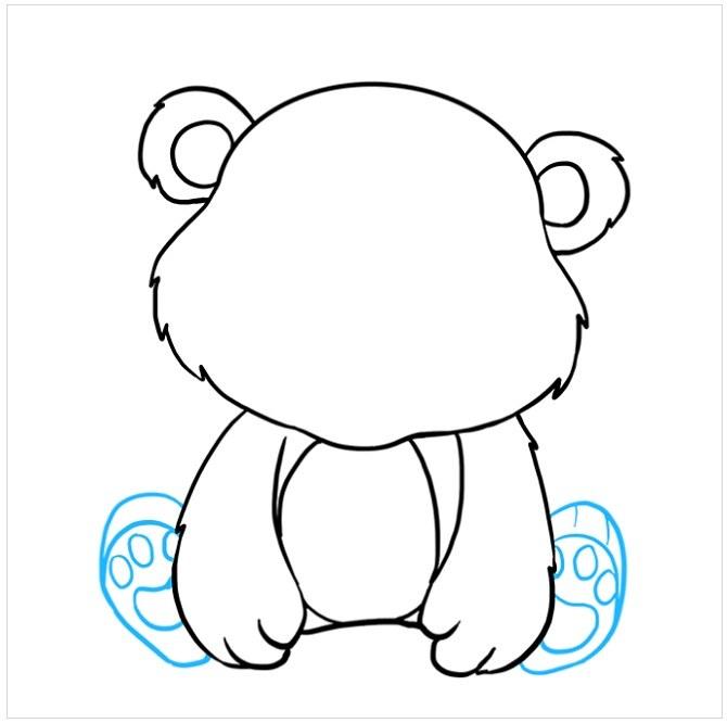 نقاشی بچه خرس مرحله هفتم