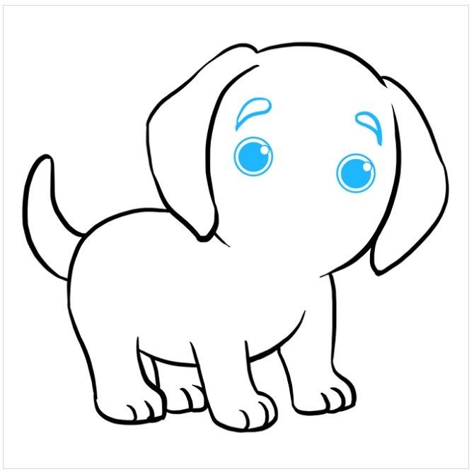 نقاشی توله سگ پاپی مرحله هشتم