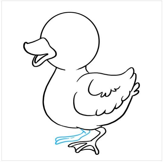 روش کشیدن نقاشی جوجه اردک مرحله هشتم