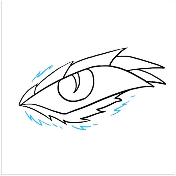 نقاشی چشم اژدها برای بچه ها مرحله هشتم